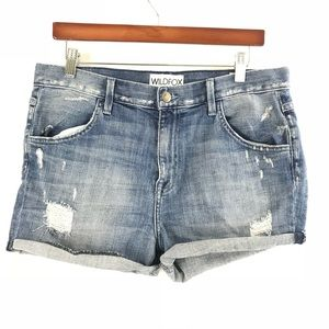 WildFox Liv Boyfriend Denim Jean Shorts Size 29